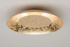 Plafondlamp 11608: Modern, Eigentijds Klassiek, Goud, Metaal