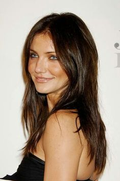 LOVE THIS COLOR! Chocolate brown hair...I would maybe add some subtle hilites to give it more dimension