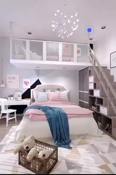 interior home design micro appartement ideas , interior home design micro appartement ideas. Elegant Bedroom Design, Bedroom Bed Design, Room Ideas Bedroom, Home Room Design, Small Room Bedroom, Home Interior Design, Kids Bedroom Ideas For Girls, Bedroom Ideas For Small Rooms For Teens, Loft Beds For Small Rooms