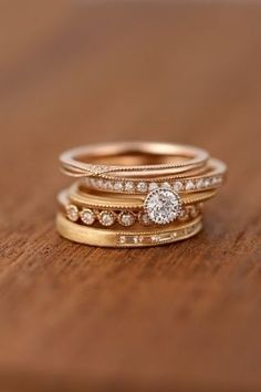 Diamond Jewelry 10 Stacked Wedding Rings Worth Obsessing Over - Stacked wedding rings are our new favorite trend. They're a great alternative to buying a major engagement ring (yet they still pack the same punch), or