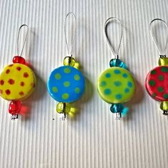 small ceramic handmade markers for knitting , Markers, Ceramics, Drop Earrings, Christmas Ornaments, Knitting, Holiday Decor, Handmade, Crafts, Ceramica