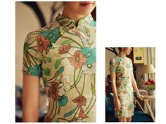 perfect fabric for qibao Simple buttons make it casual.