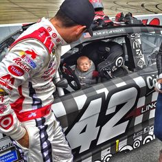 AAA400 Kylelarson42 Lets Owen Get A Little Seat Time In The TeamTarget Chevy