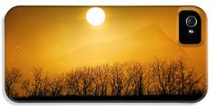 Foggy Sunset iPhone 5 Case / iPhone 5 Cover for Sale by Daniel Woodrum