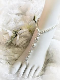 Beach Wedding - Beaded Barefoot Sandals