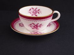 Vtg Spode Miniature Tea Cup Saucer Gloucester Pink Floral Bone China England #Spode