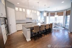 Stunning kitchen remodel by Emily @A Well Dressed Home...click to see the dark + dingy before photos!