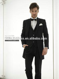 Black Custom made Regular Fit Tailored Mans Wedding Suits Sets (Jacket+Pants+Vest+Tie) WS026 latest design mens wedding suits