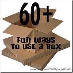 60 fun ways to use a box with kids