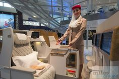 Emirates neue Business Class – Mockup ITB (photo by Emirates) - Check more at https://www.miles-around.de/trip-reports/business-class/itb-2016-emirates-neue-business-class/,  #avgeek #Aviation #Boeing #BusinessClass #Emirates #ITB