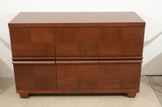 Walnut Commode/ File Cabinet after Jean-Michel Frank | From a unique collection of antique and modern commodes and chests of drawers at https://www.1stdibs.com/furniture/storage-case-pieces/commodes-chests-of-drawers/