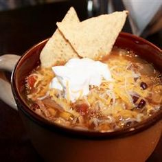 Crockpot Chicken tortilla soup! This will be a recipe repeater! While it was not spicy enough for my taste, the picky eaters of our house ate TWO bowls full!!
