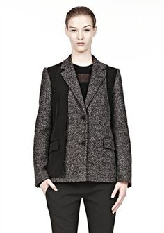 Blazer With External Lining Detail by Alexander Wang