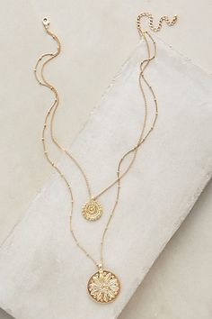 Layered Emblem Necklace #anthropologie