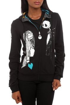43f6ce2aae0 The Nightmare Before Christmas Eternal Love Girls Reversible Zip Hoodie Sku  157262   My other birthday present
