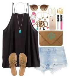 """""""Going to the Kendra Scott store"""" by lauren-hailey ❤ liked on Polyvore featuring moda, Zara, H&M, Tory Burch, Kendra Scott, NARS Cosmetics, Ray-Ban, Alex and Ani, Kate Spade y Jennifer Zeuner"""