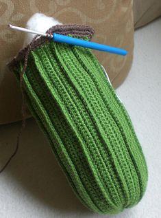 Giant Cactus pattern by Kerstin Batz - Kaktus Crochet Dishcloths, Crochet Toys, Crochet Stitches, Crochet Baby, Knit Crochet, Crochet Patterns, Crochet Cactus, Crochet Flowers, Knitted Blankets