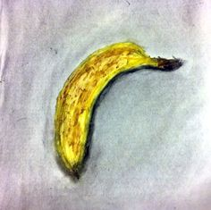 """Time to Make Banana Bread"" -- Scott Swalley (Oil pastels and charcoal on paper)"