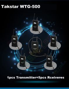 289.98$  Buy now - http://ali0f4.worldwells.pw/go.php?t=32667884762 - Free Shipping!1pcs Transmitter+Receiver 5pcs Original Takstar WTG-500 UHF PLL Wireless tour guide system voice device teaching 289.98$