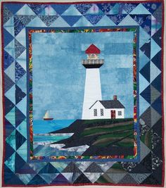 Pattern  Pigeon Point Lighthouse quilted wall by quiltsbyelsie, $10.50