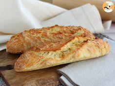 Pan Baguette Receta, Baguette Express, French Baguette, Burger Buns, Naan, Baguettes, Bread Recipes, Easy Recipes, Banana Bread