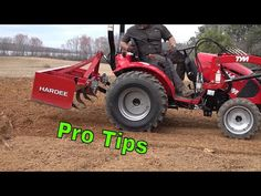 Do YOU Really Know How to Use a Box Blade? | Hydraulic Top Link | TYM Tractors - YouTube