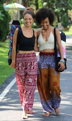 Boho yoga pants, yoga straps, and yoga bags upto 75% off on www.onetribeapparel.com