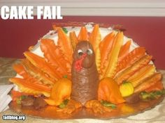 THIS TURKEY LOOKS LIKE AN UPSIDE DOWN DILDO WITH FROSTING ON IT!
