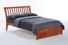 Curved Headboard Nutmeg Bed K Full Bed Cherry by Night and Day Xiorex Curved Headboard Nutmeg Bed by Night and Day is a curved headboard bed with curved-slat styling head that follows the current classic furniture trend and come with flared legs.  https://www.xiorex.com/curved-headboard-bed-night-and-day-nutmeg-bed-with-curved-headboard-xiorex