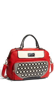 Fun Kate Spade typewriter keyboard purse.  Perfect for a journalist, an aspiring author, and a bibliophile... Just to name a few!  ;)