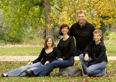 Outdoor Photography Poses family with Teens | Jill is a mother of two teenagers and is married to Brian, Pastor of ...