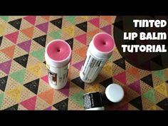DIY Tinted lip balm! As much as I go through, I can totally use this easy idea! Why didn't I think of it myself?