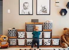 An Ikea kids' room remains to intrigue the children, because they are offered much more than just children's s Ikea Trofast Storage, Kids Playroom Storage, Ikea Playroom, Ikea Kids Room, Playroom Organization, Kids Bedroom, Trofast Hack, Ikea Nursery, Kids Storage Bins