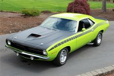 1970 Plymouth AAR 'cuda 2 Door 340 Six Pack, Mopar painting Limelight © Barrett - Jackson Triumph Motorcycles, Mopar, Ducati, Motocross, Plymouth Muscle Cars, Lamborghini, Mercedes Benz, Porsche, Plymouth Barracuda