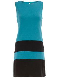 dorothy perkins blue strip shift dress