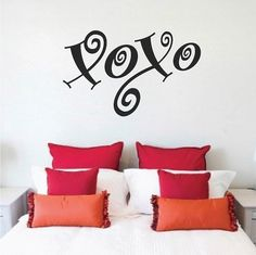 XOXO Wall Decal Door Decals Bedroom Decals by TrendyWallDesigns
