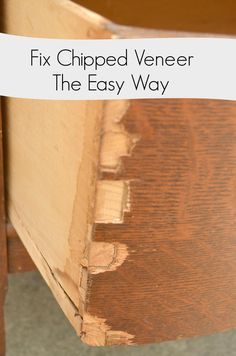 Veneer that is chipped can look ugly and unattractive. Here's an easy way to fix chipped veneer leaving a hard, smooth finish. Ideal for painted pieces.