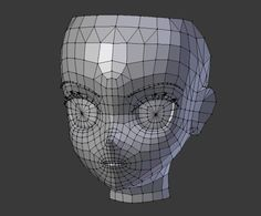 3d anime head base topology Character Modeling, 3d Character, 3d Modellierung, Face Topology, 3d Anatomy, Sculpting Tutorials, Hand Painted Textures, 3d Mesh, Modelos 3d
