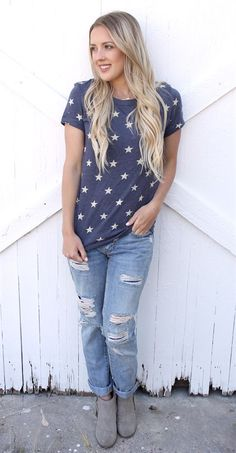 These Stars and Stripes Eco-Jersey Tee's are made out of a high quality fabric that is so soft and thick, making this the ideal shirt that you will want to wear every day! Available in 6 great color options.