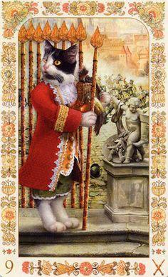 Baroque Bohemian Cats 9 wands