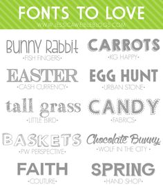 10 FREE Fonts to Love | jessicaweibleblogs.com  ~~ {10 free fonts w/ easy download links}