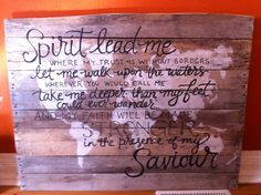 Spirit Lead Me- Hillsong Oceans.  World map as background