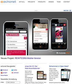 echonet Webseite im Responsive Webdesign / http://www.echonet.at/