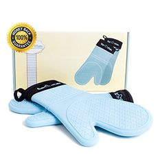 Silicone oven mitts  Get the oven mitts of superior in quality. Sili Mitts Blue Silicone Oven Mitts.Heat and freezer resistant,approved by FDA.  see more from the Source.