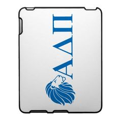Alpha Delta Pi Blue Lion and Letters iPad Covers