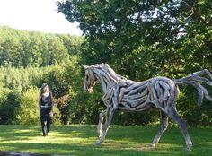 Driftwood horse by Heather Jansch.