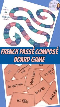 Board game for the French passé composé conjugations. Practice verbs conjugated with avoir and with être. Includes subject pronoun cards and 3 game boards for easy differentiation. Click here to see it now!