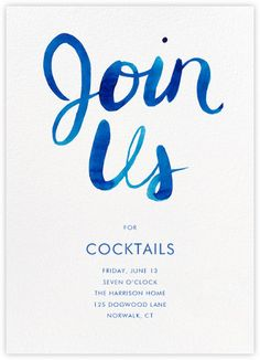 Happy hour invitations - online at Paperless Post