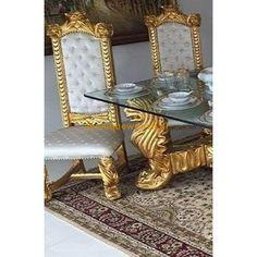 Barok Tafel Set Queen Delilah Gold Oase van Schoonheid | Le Chique Wonen