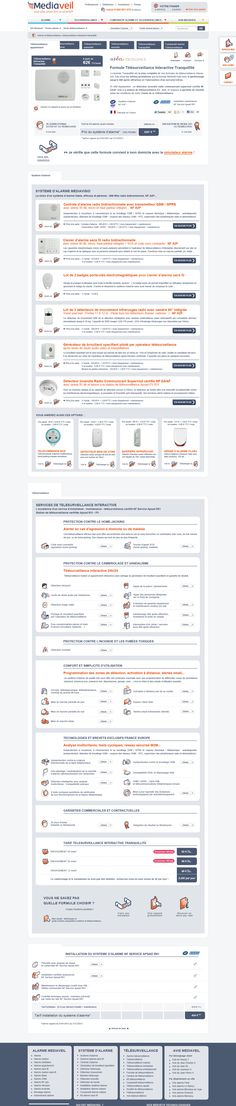 Realisation du site internet Mediaveil. Formule de télésurveillance tranquillité. #Webdesign